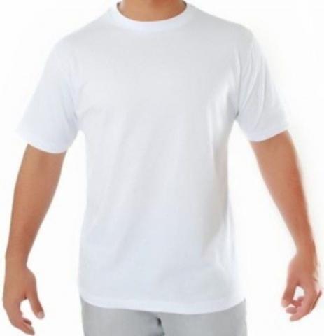 Camiseta Branca 100% Algodão Fio 24 Promocional Atacado - R  12 2f172a522dc