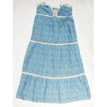 Lindo Vestido Azul Florido Moda Feminina Primavera Verão