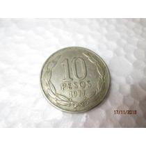 Moeda Republica De Chile, 10 Pesos, 1977*