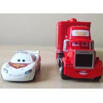 Kit C/2pç: Lightning Mcqueen Caminhão & Carrinho Disney Cars