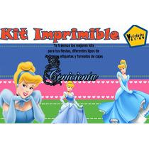 Kit Imprimible Cenicienta,invitación,tarjeta;fiesta, Cnv13