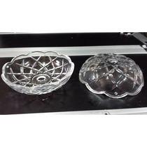 Bobeches Rosetas Peça P/lustre De Cristal Vidro 10 Peças