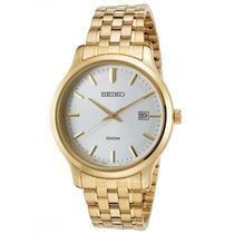 Reloj Seiko Sur148p1 Es Neo Classic Gold-tone Stainless