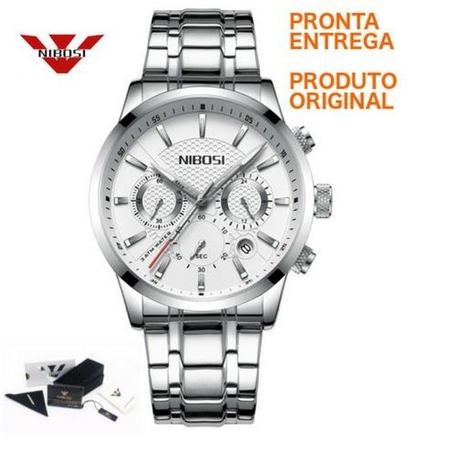 969ba168dc0 Relógio Nibosi® À Prova D água Luxo Cronômetro Cronógrafo - R  189 ...