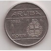 Aruba Moneda De 1 Florin Año 1986 !!