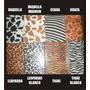 25 Cartulina Decorativa Animal Print Tarjetería Manualidades