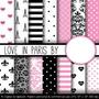 Kit Imprimible Pack Fondos Amor En Paris 1 Clipart