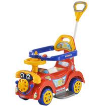Andador Infantil Ring Car Vermelho Com Empurrador 505 Biemme