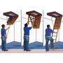 Escada Dobrável 3 Metros Para Sótão Fixa Embutida