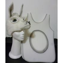 Gorro Y Pechera De Llama Vicuña En Goma Espuma Disfraz