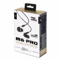 Fone Ponto Monitor Retorno De Ouvido M6pro Mee Audio Preto