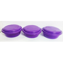 Conjunto De 3 Potes Redondos Plásticos 700ml P/alimentos