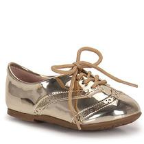Sapato Oxford Infantil Molekinha - 17 Ao 25 - Dourado(a)