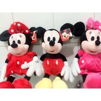 Minnie Rosa ,vermelha Ou Mickey 40 Cm