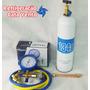 Carga Gas R134a Refrigerant, Manifold, Schrader P/ Geladeira