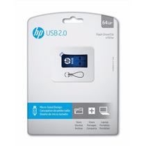 Pen Drive 64gb Hp Usb 2.0 Azul V165w Original Lacrado