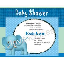 Invitación Imprimible Personalizada Para Baby Shower Niño