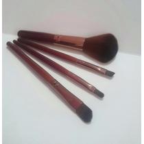 Set De 4 Pzs De Brochas Para Maquillaje