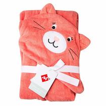 Toalha De Bebê Com Capuz Urso E Gato Rosa Azul Menino Menina