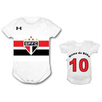Body São Paulo Time Futebol Bebê Personalizado Infantil