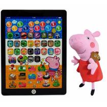 Tablet Infantil Educativo Peppa Pig + Linda Pelúcia 2 Em 1
