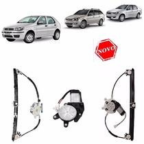 Maquina Vidro Eletrico Com Motor Palio / Siena / Weekend 4pt
