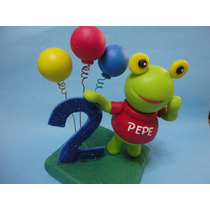 Sapo Pepe/pepa Adorno De Torta En Porcelana Fria!!!
