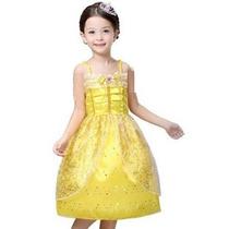 Vestido Fantasia Princesa A Bela E A Fera C/ Saiote