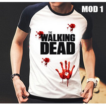 Camisa/camiseta Raglan The Walking Dead Zumbi,rick,daryl