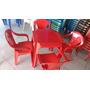 Conjunto De Mesa E 4 Cadeiras De Plástico Poltronas Goiania