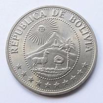 Moeda Bolivia 1968 1 Peso