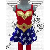 Disfraz Mujer Maravilla Wonder Woman Vestido Traje