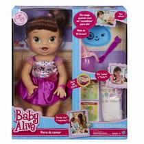 Baby Alive Hora De Comer Hasbro Original Faz Xixi Caquinha