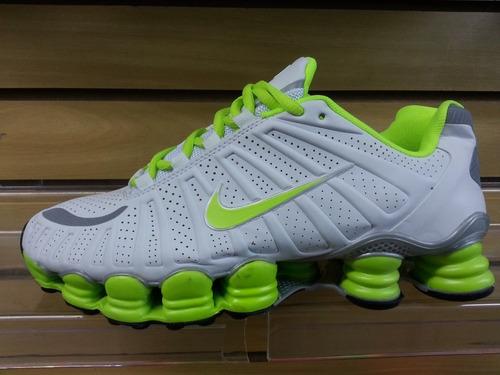 Tenis Nike Shox Tlx Branco E Verde Limão Nº37 A 43 Original - R  270 ... a021f05cef0ee