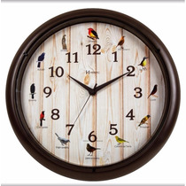 Relógio Parede Sweep Canto Passaros Brasileiros Herweg 6691