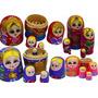 Matrioska Russa: Bonecas Composta Por 5 Matrioska Lindas!!!