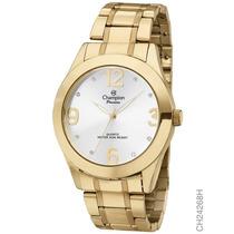Relógio Champion Banhado A Ouro 18k Ch24268 - Original + Nf