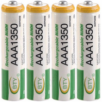 Baterias Aaa Recargables 1350 Mah Paquete De 4 Ni-mh Bty