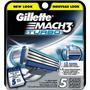 Gillette Mach3 Turbo Cartuchos 5 De Recuento