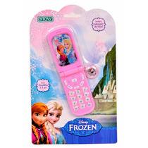 Celular Con Luz Y Sonidos Frozen Disney Con Colgante De Olaf