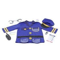Melissa & Doug Oficial De Policía Juegos De Rol Costume Set