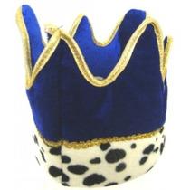Disfraz De Payaso - Gorro Azul Con Adorno Armiño Dorado