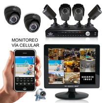 Kit Cctv Dvr Videovigilancia 6 Cámaras Visión Nocturna