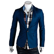 Saco Blazer Hombre Slim Fit Casual Elegante Moda Juvenil
