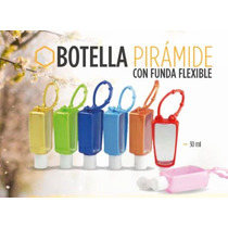 Botellita Con Gel Antibacterial Y Funda De Silicona Colores