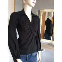 Camisa Negra Juvenil.bershka España. Talle S