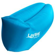 Laybag Sillón Inflable Original Color Azul - Envío Gratis
