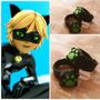 Anel Chat Noir De Miraculous Ladybug - Produto Artesanal