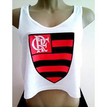 Camiseta Flamengo Feminina Blusa Regata Cavada Babylook Nova
