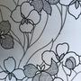800304 - Floral (Tons De Cinza/ Preto)